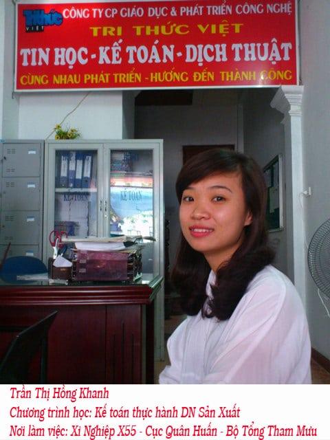 Học viên học kế toán thực hành doanh nghiệp sản xuất